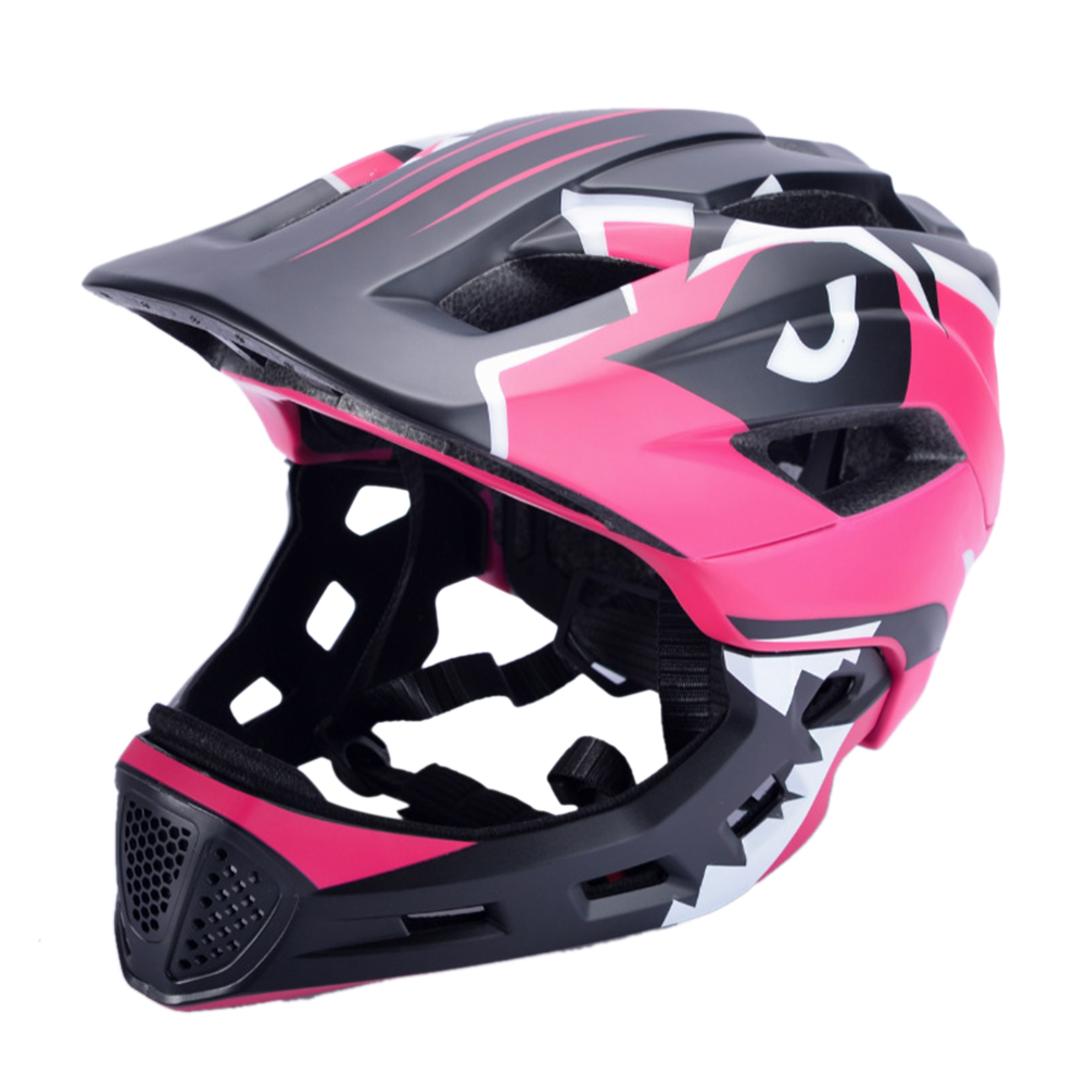 Bicycle Helmet Children Balance Bike Full Helmet Integrally-molded Outdoor Cycling Accessories Bike Helmet Rose red_Free size