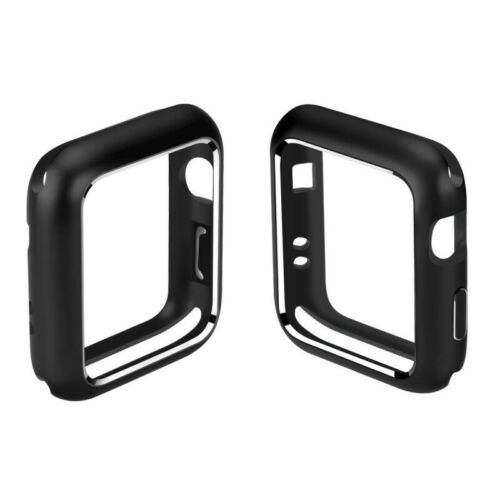 For Apple Watch iWatch Series 4/3/2/1 Magnetic Metal Bumper Case 38 40 42 44mm black_44mm