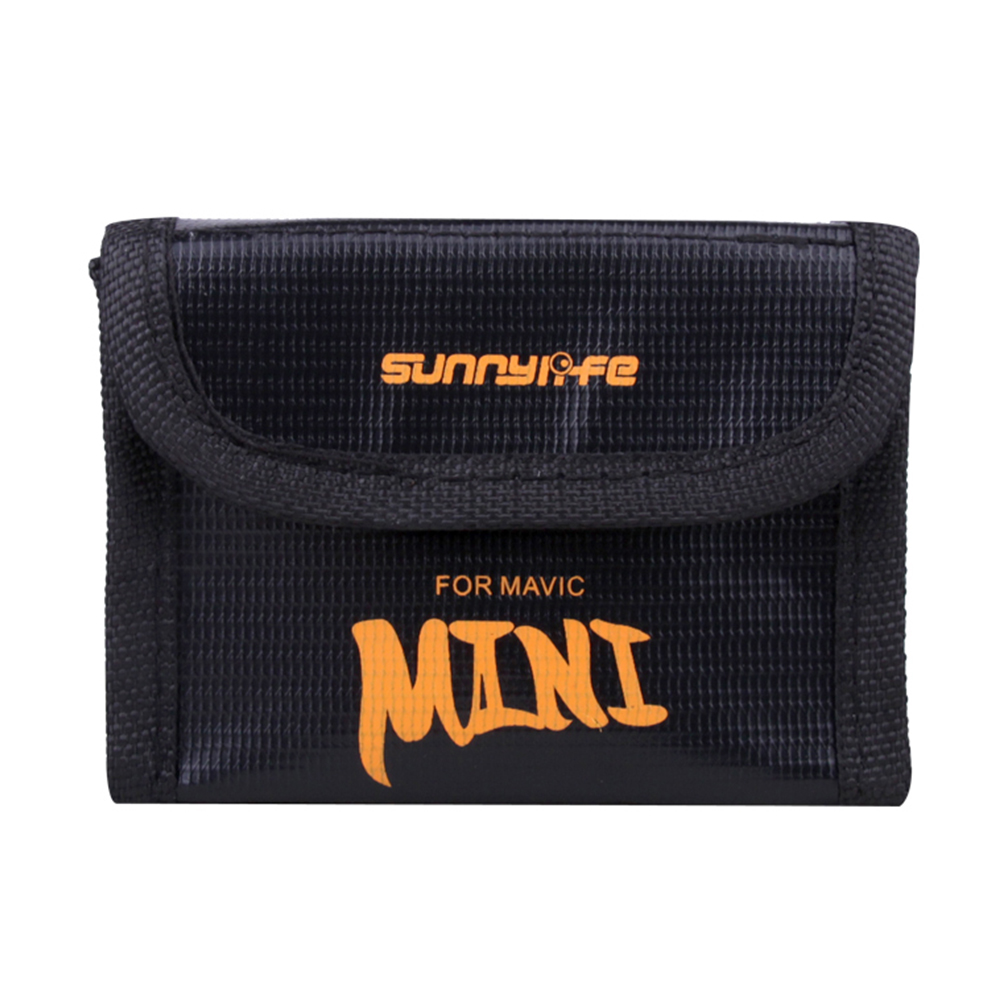 Mini Storage Bag for DJI Mavic Drone Battery Shock-proof Battery Explosion-proof Safety Protective Case  3 batteries bag
