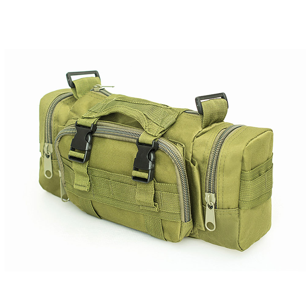 Large Capacity Sports Outdoor Leisure Pockets Photography SLR Camera Multi-function Shoulder Bag Waist Bag earthy_15 inches