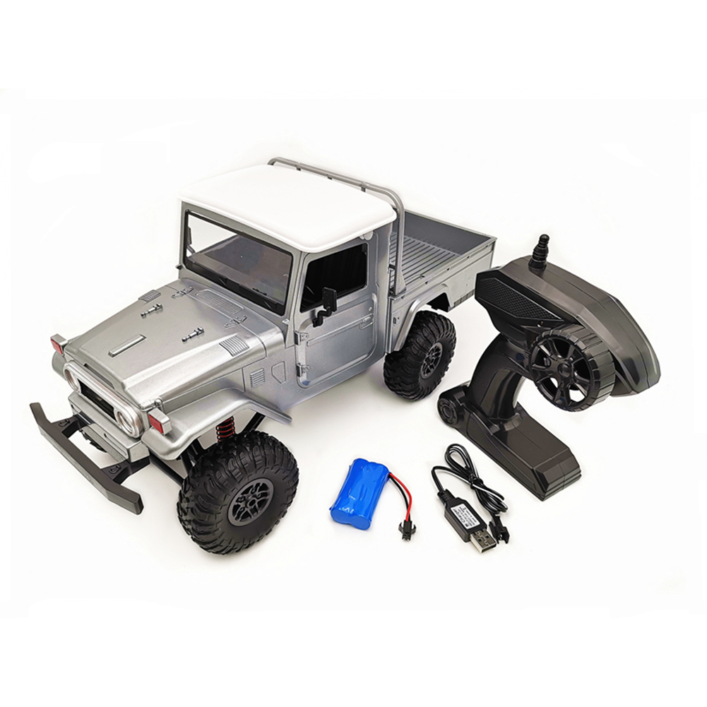 MN Model MN45 RTR 1/12 2.4G 4WD RC Car with LED Light Crawler Climbing Off-road Truck Silver