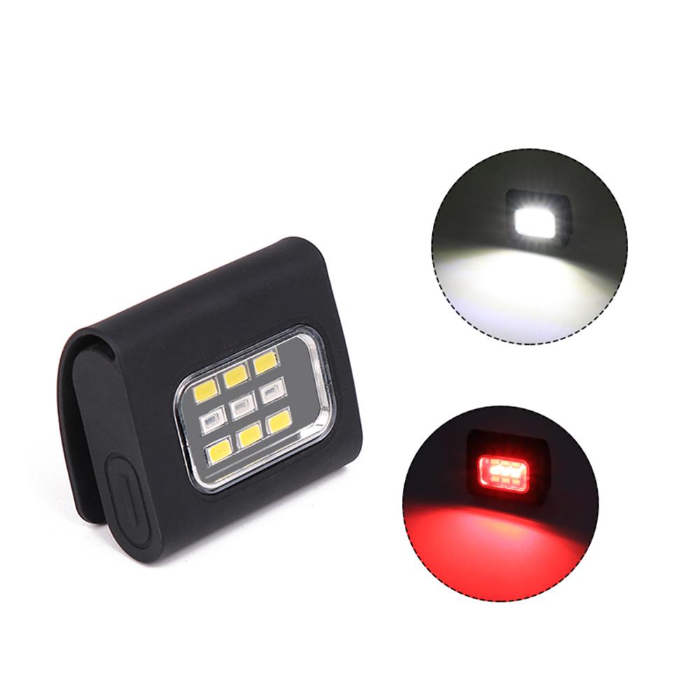 USB Charging LED Magnetic Inspection Lamp Emergency Light Flashlight  Red light + white light