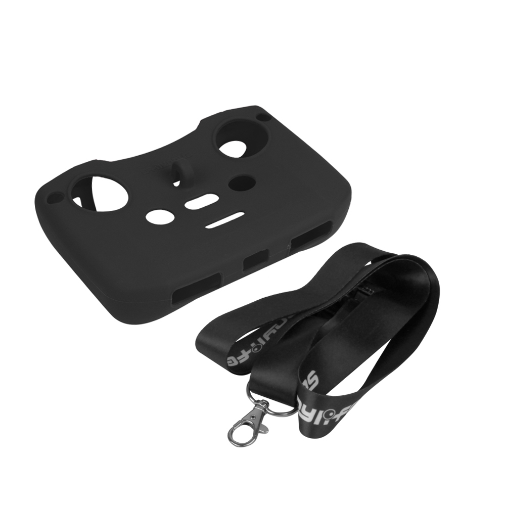 Silicone Protective Cover with Remote Controller Strap Protective Sleeve For DJI Mavic Air 2 Drone Accessories black