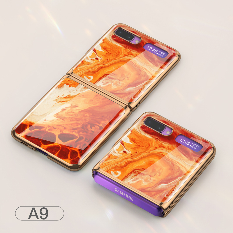 For Samsung Galaxy Z flip Foldable Cellphone Shell Electroplated Painted Folding Phone Case A9