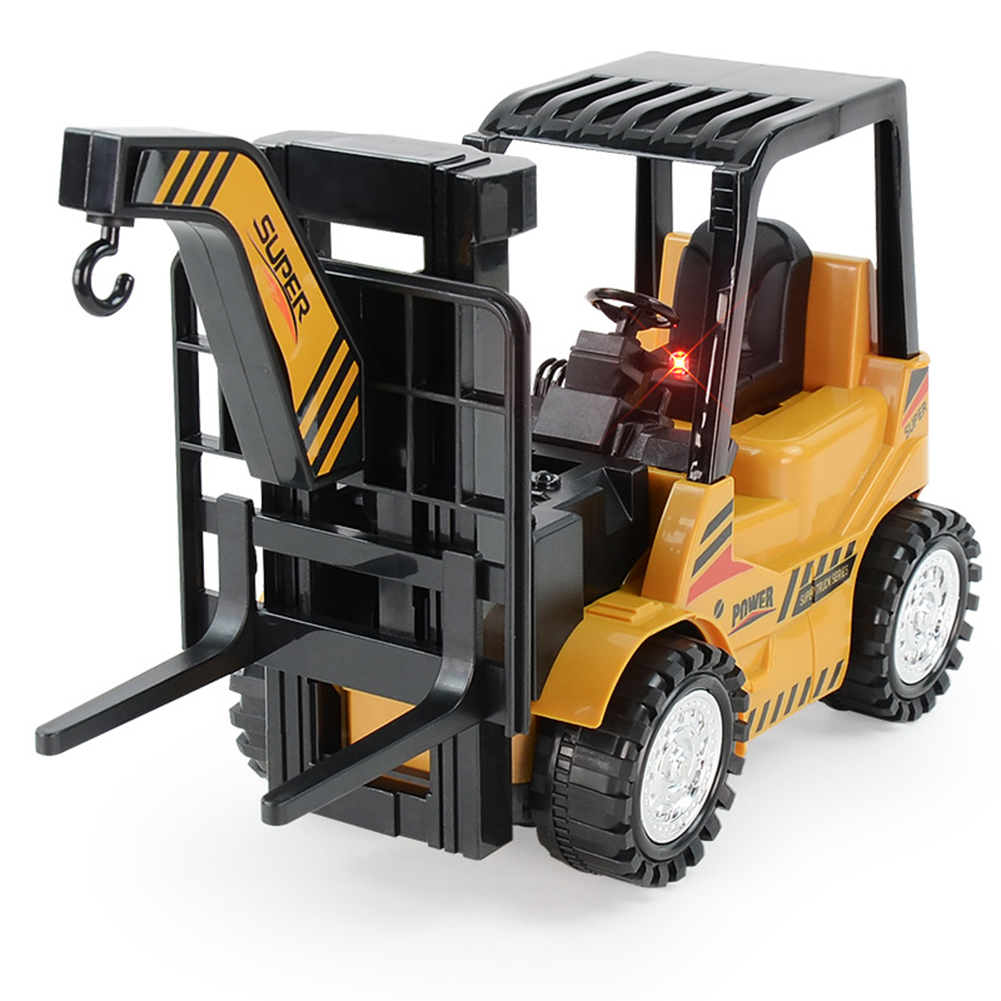 Simulate Forklift Model Truck Toy Rotating Universal Engineering Vehicle As shown