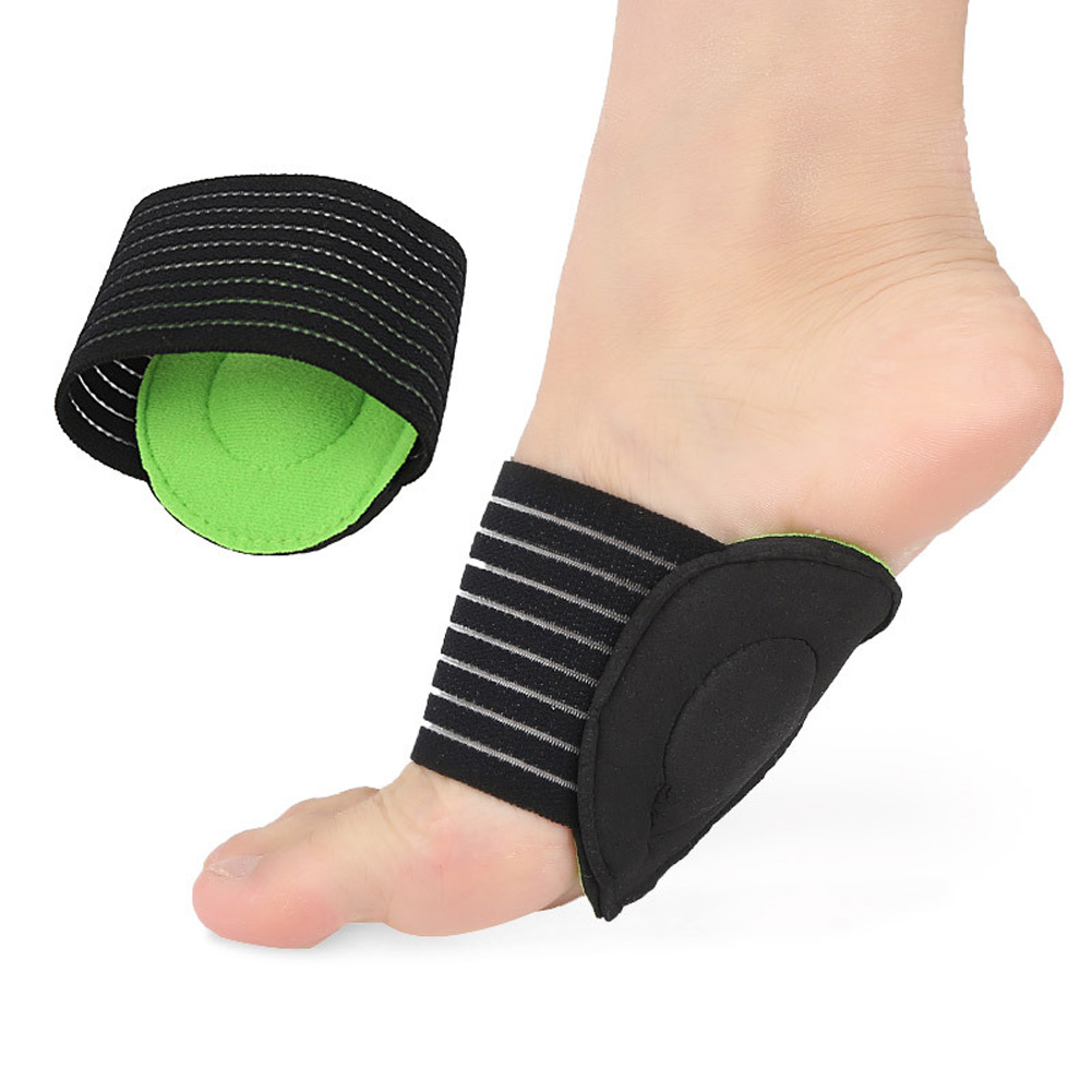 Footpads  Foot Heel Pain Relief Plantar Fasciitis Insole Pads Arch Support Shoes Insert Pad Green black_Thick