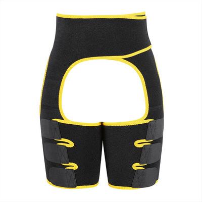 Women Thigh Shaper High-Waist Adjustable Leg Slimming Waist Trimmer Wrap Belt Shapewears yellow_M