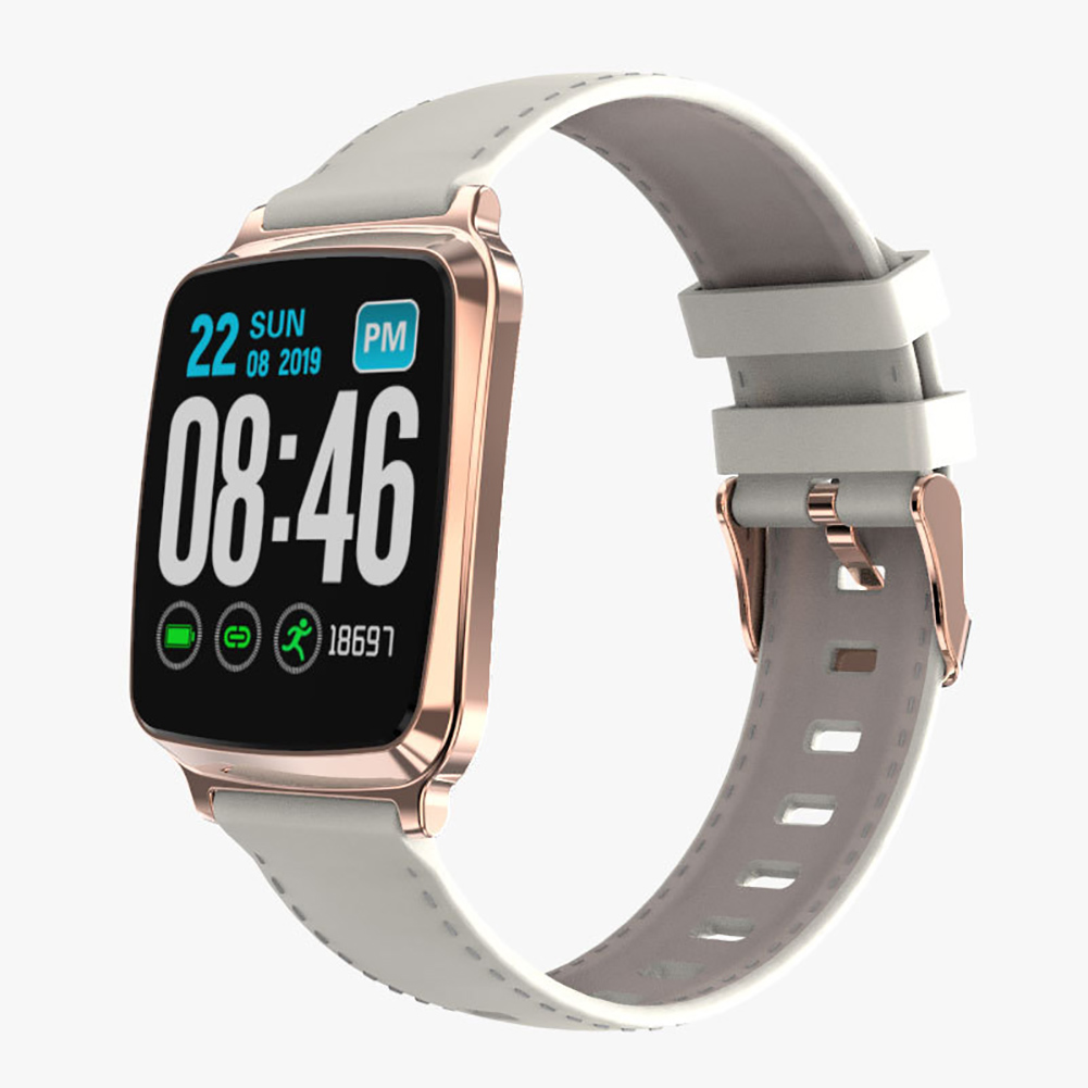 Smart Watch Bracelet Heart Rate Detecting Sports Bracelet Sleep Monitoring Pedometer Champagne Gold