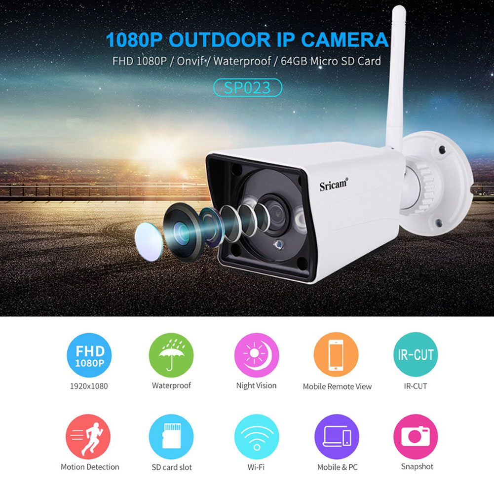 US Sricam SP023 Home Security IP Camera Wireless Smart WIFI Camera Audio Record Baby Monitor