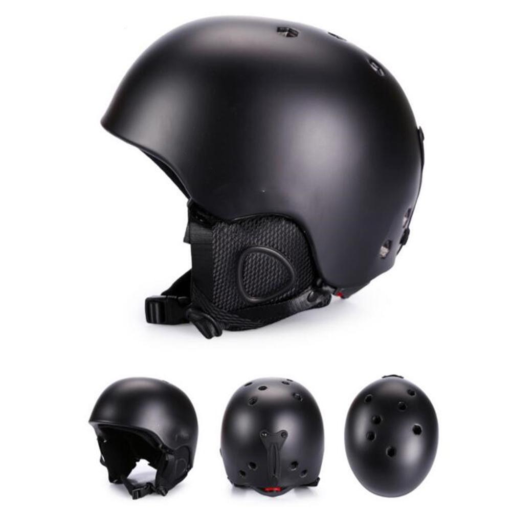 Integrated Molding Ski Helmet Safety Warm Snowboard Helmet Ski Protective Gear Equipment for Adult Sub black_L number