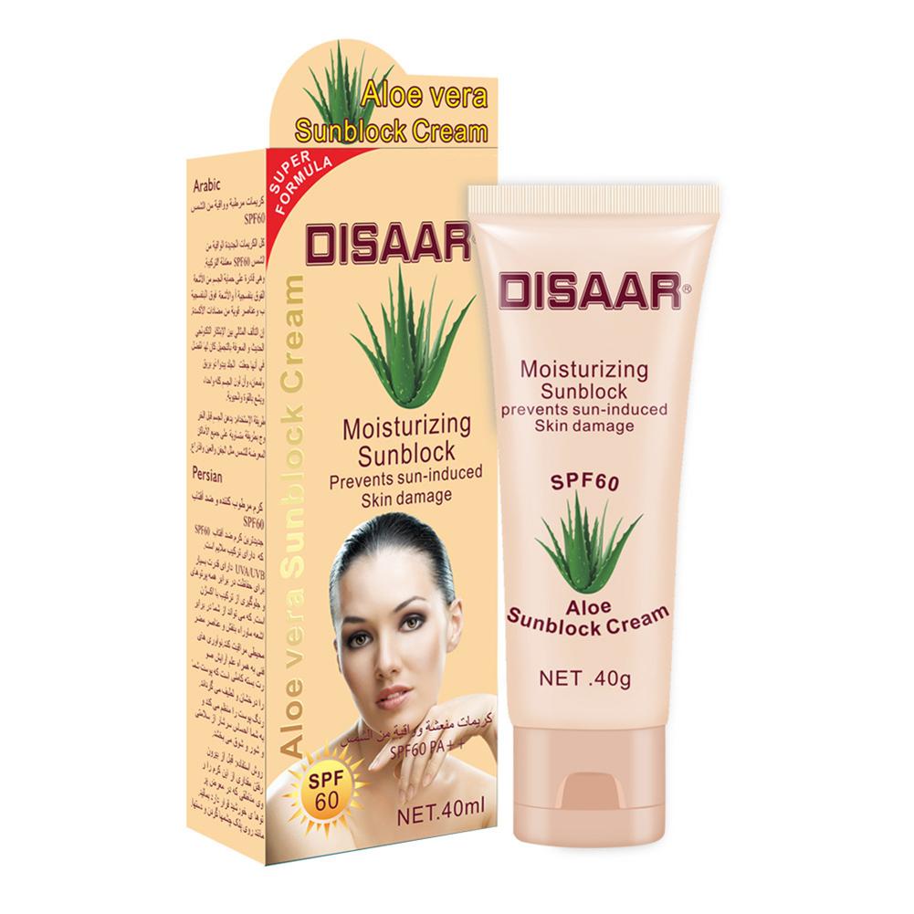 Sunscreen  Cream Moisturizing Isolation Sunscreen Cream Sweatproof Skin Care Cream 40ml aloe