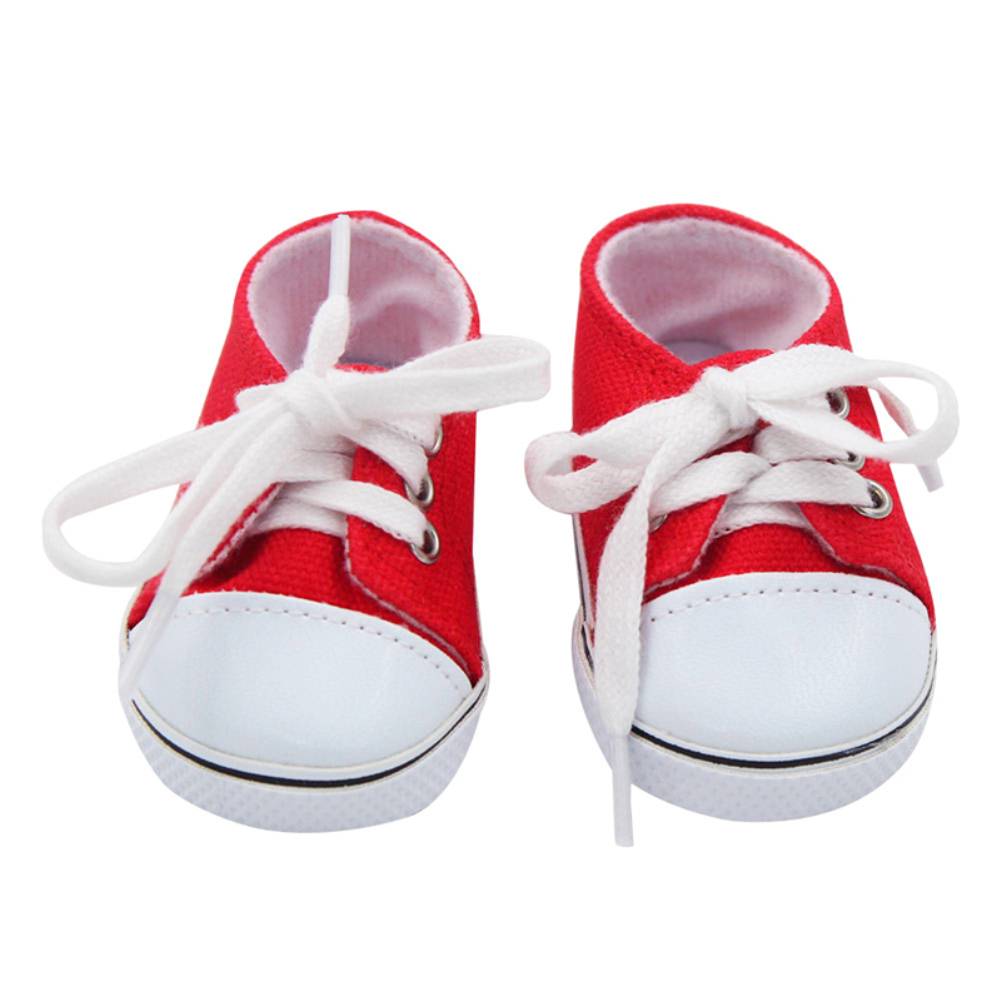 Canvas Shoes for 18 Inch Doll Shoes Reborn Dolls Shoes Doll for Girl Boots red