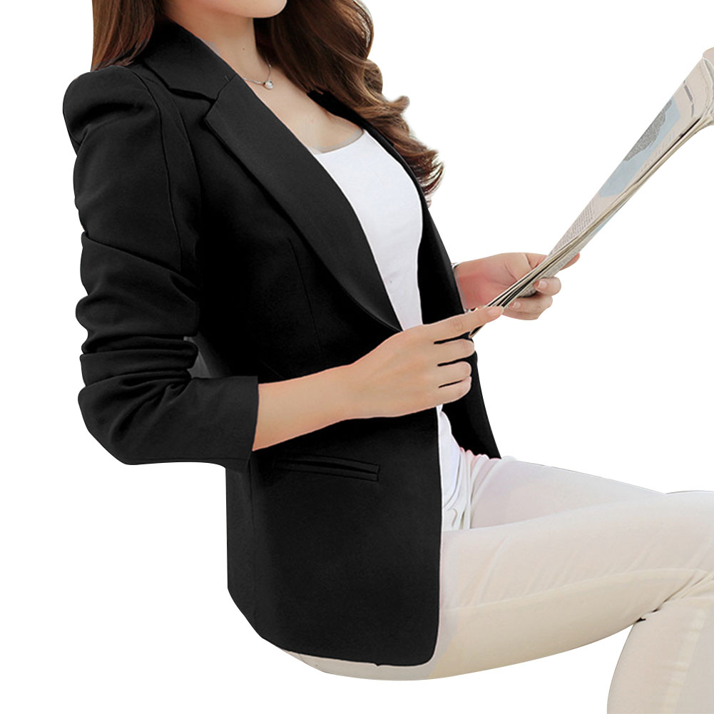 Women Casual All-match Long Sleeve Jacket