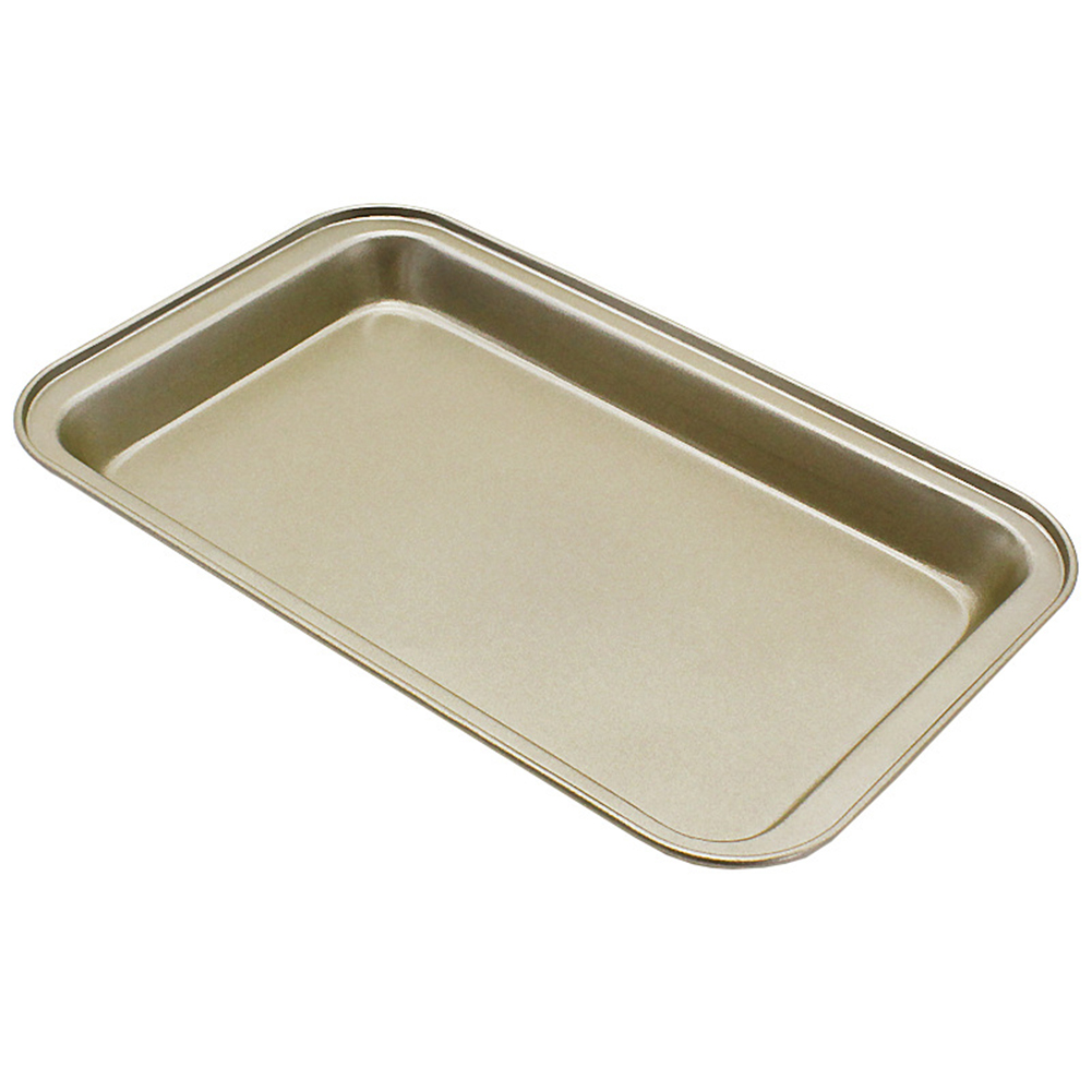 Non-stick Baking Tray Cake Mold for Nougat Pizza Kitchen Supplies Baking Tool Large gold
