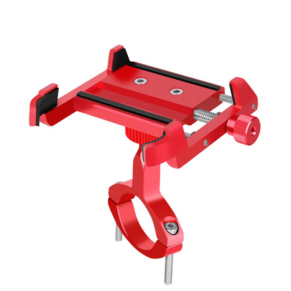 Mobile Phone Bracket Mountain Bike Electric Motorcycle Mobile Phone Holder Universal Bracket Red (universal)_One size