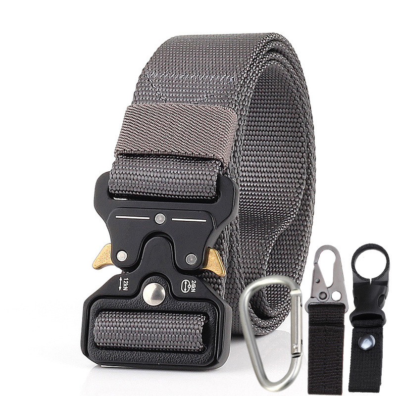Men Tactical Belt Gray