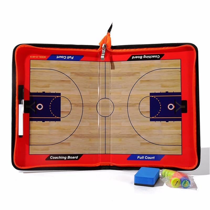 Basketball ZipperedTactics Research Clipboard Magnetic Folder Coaching PVC Board Big magnet zipper (basketball) tactic board