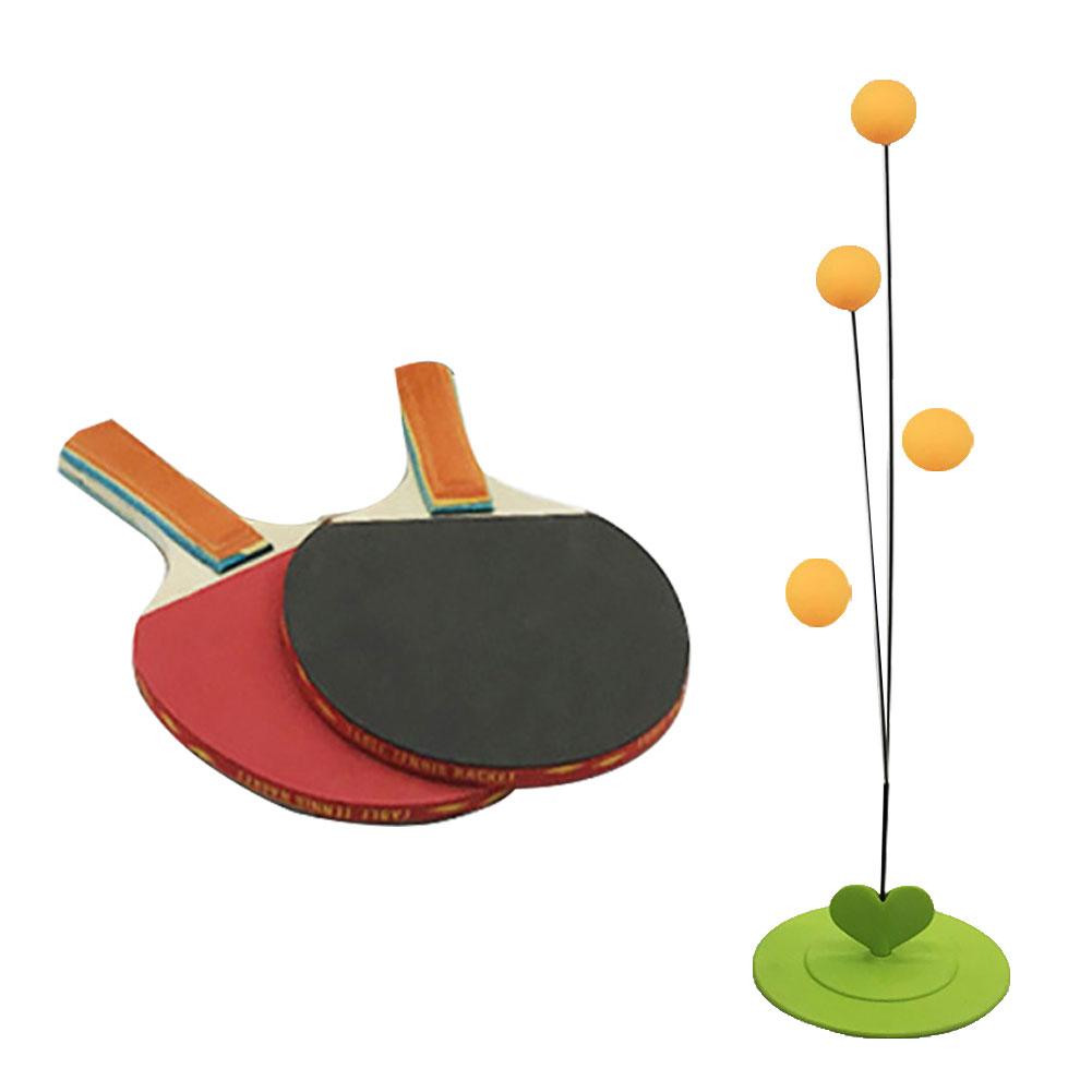 Kids Children Table Tennis Training Aids Exercise Set Flexible Shaft Racket Kit Portable training aids