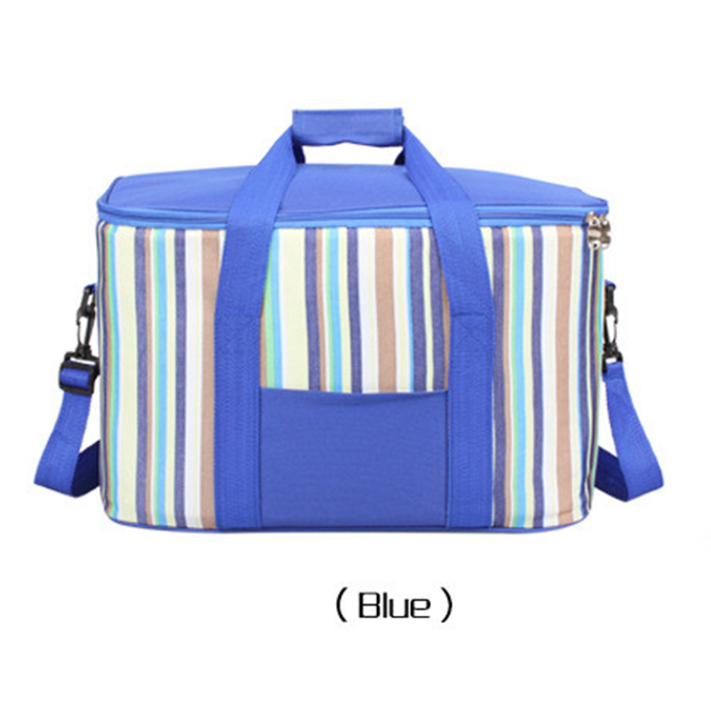 34l Large Capacity Lunch Bag Waterproof Thermal Cooler Insulated Portable Picnic Ice Hot Bag blue