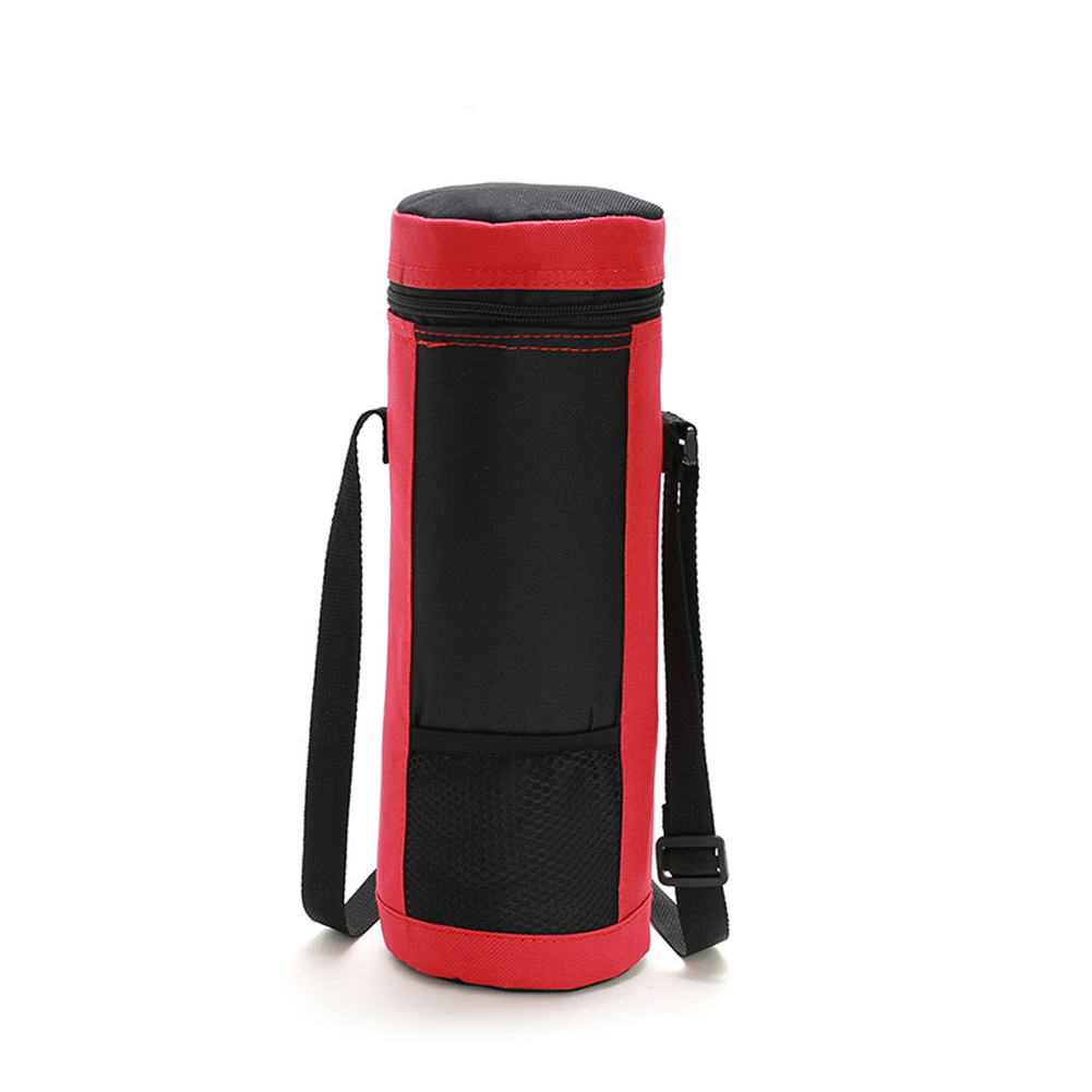 Coke Bottle Ice Pack Insulated Bottle Bag Cooler Bag Waterproof Thermal Ice Lunch Bag red