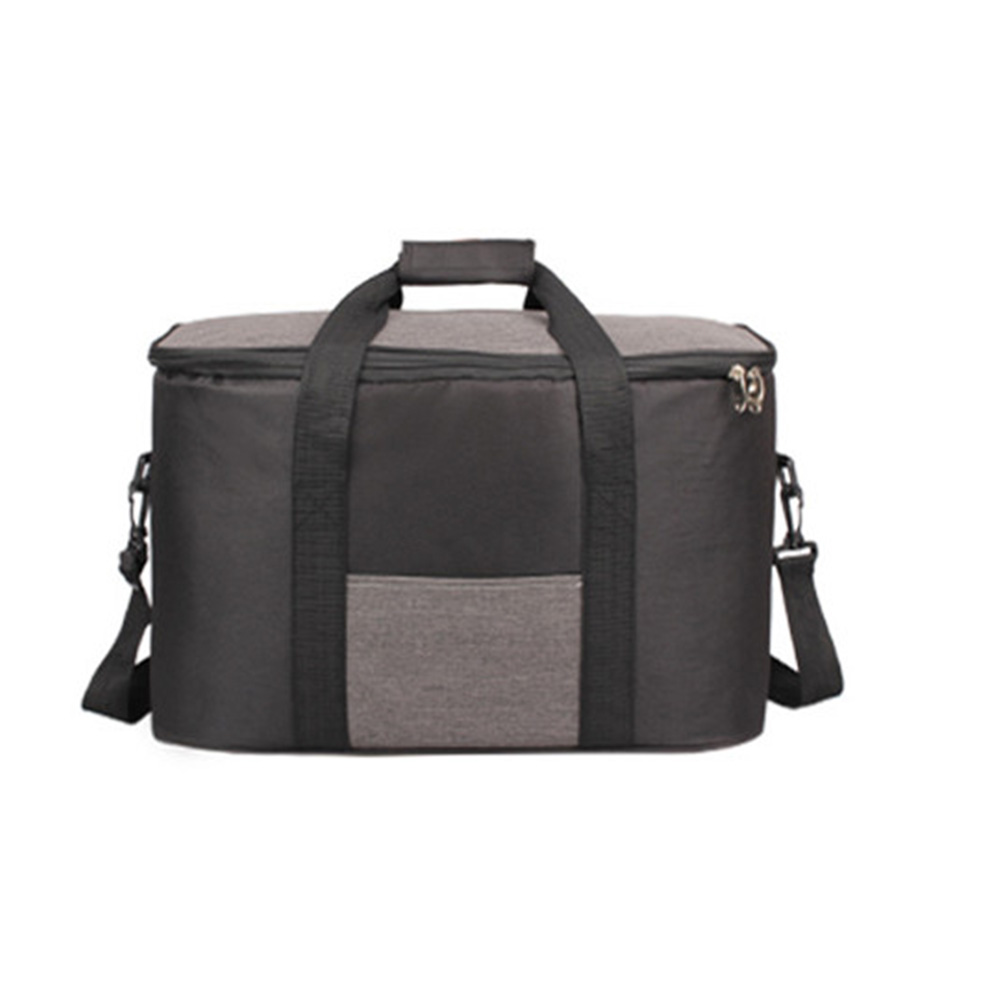 34l Large Capacity Lunch Bag Waterproof Thermal Cooler Insulated Portable Picnic Ice Hot Bag black