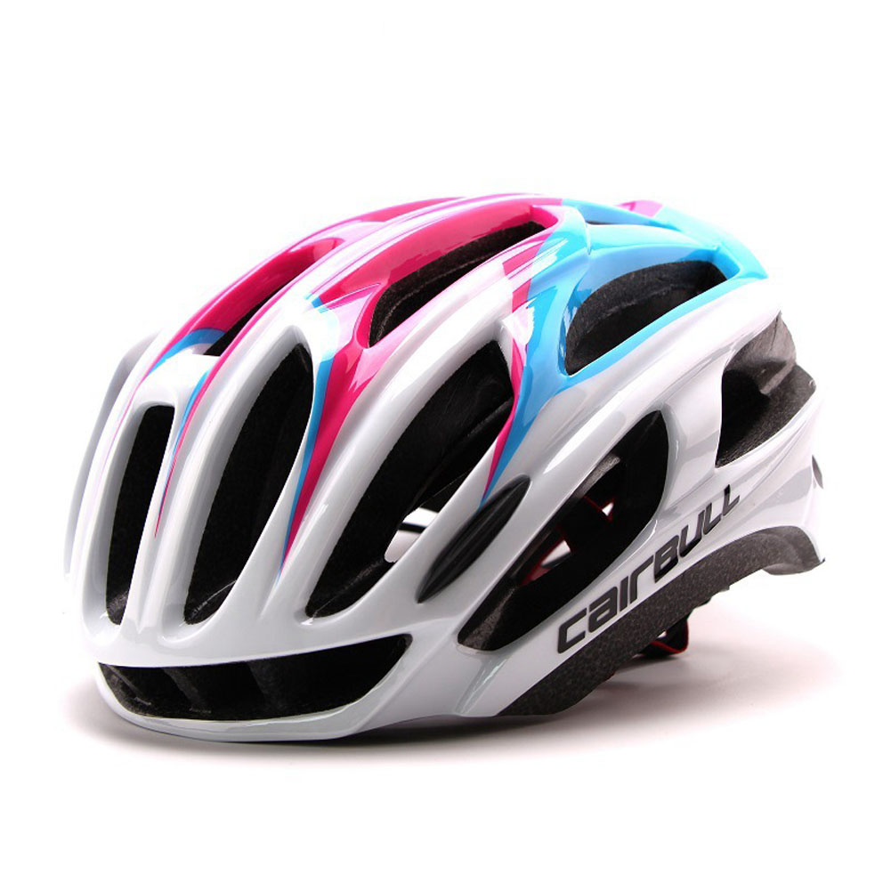 Ultralight Racing Cycling Helmet with Sunglasses Intergrally molded MTB Bicycle Helmet Mountain Road Bike Helmet Pink_L (57-63CM)
