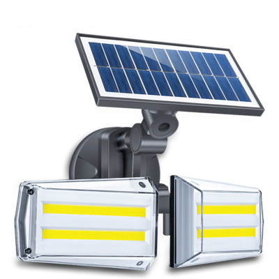 80LEDs Solar Light Outdoor Waterproof Double-Head Motion Sensor COB Wall Lamp for Home Garden Yard 80 COB wick models