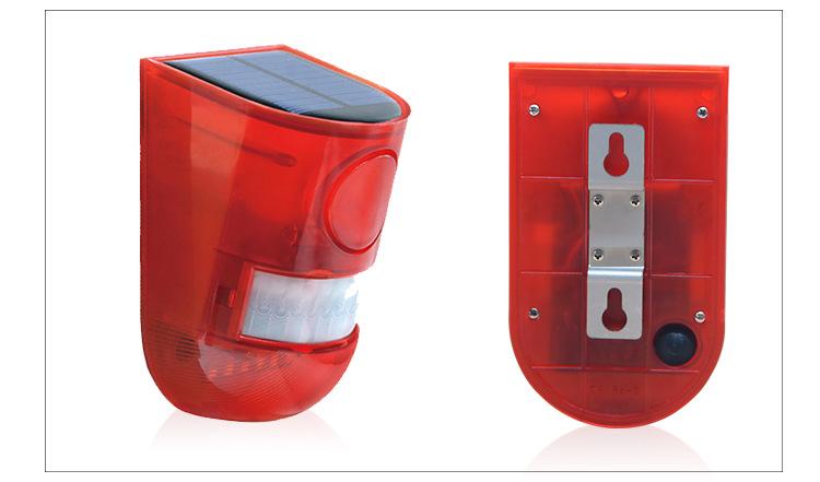 LED Human Body Sensor Warning Light Solar Powered Safety Lamp for Farm Orchard n911