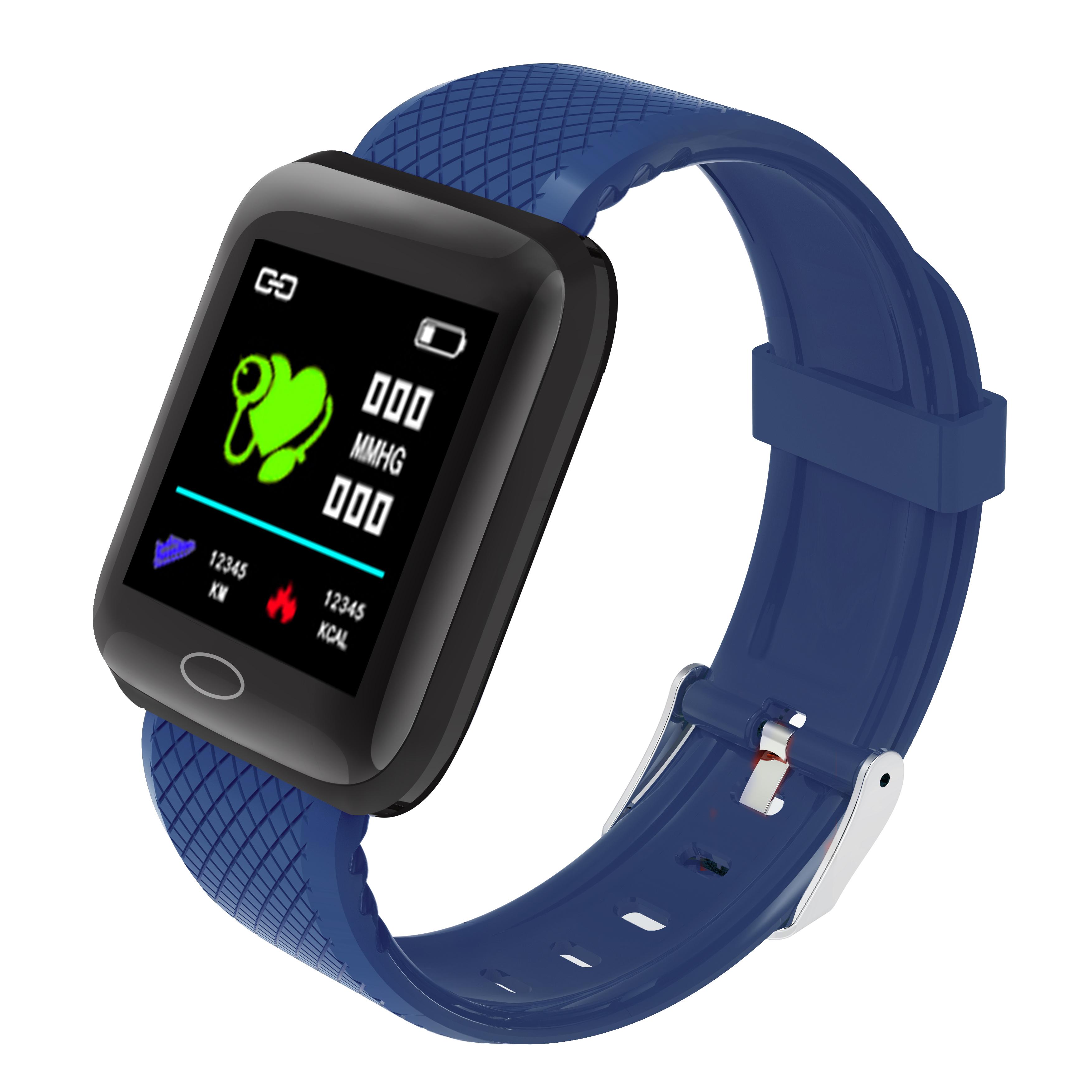 D13 Smart  Bracelet Step Heart Rate Blood Pressure Sleep Alarm Clock Usb Charge Color Screen Smart Bracelet blue