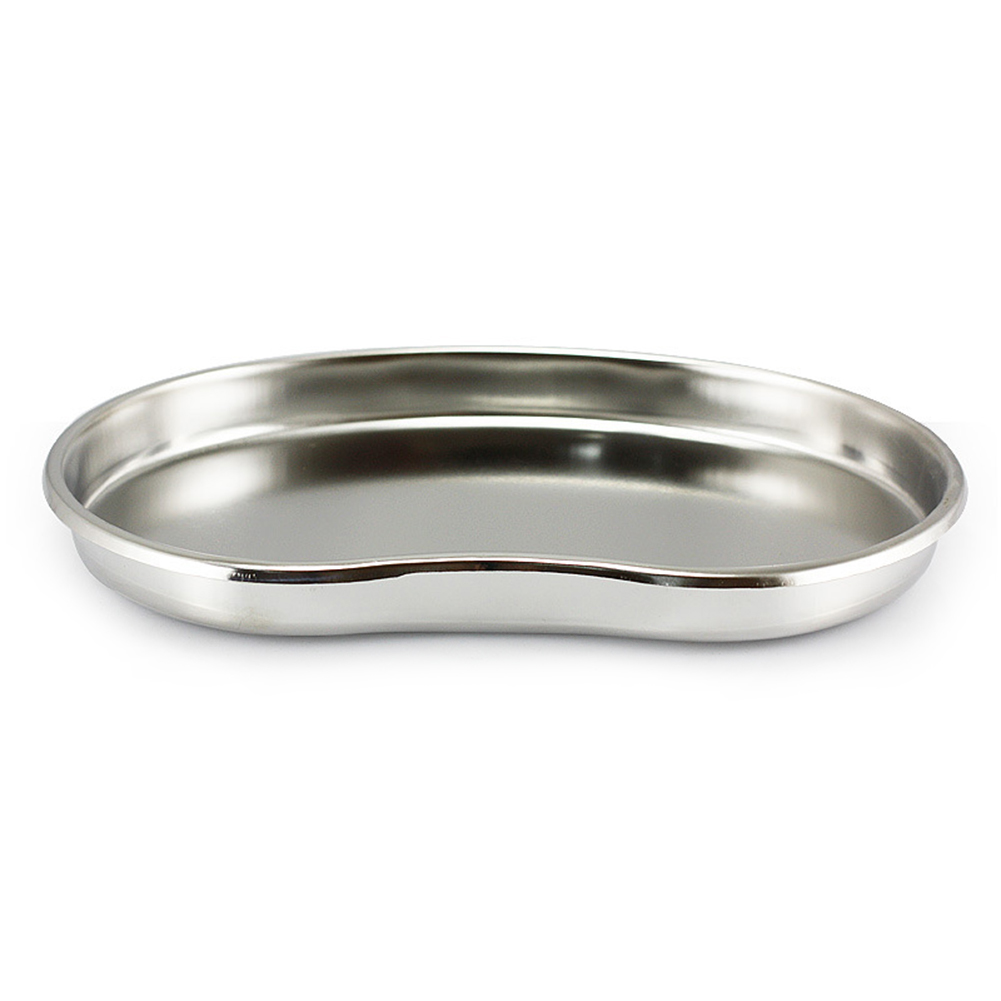 Stainless Steel Curved Tray Smooth Hygienic Medical Dental Surgical Use Small