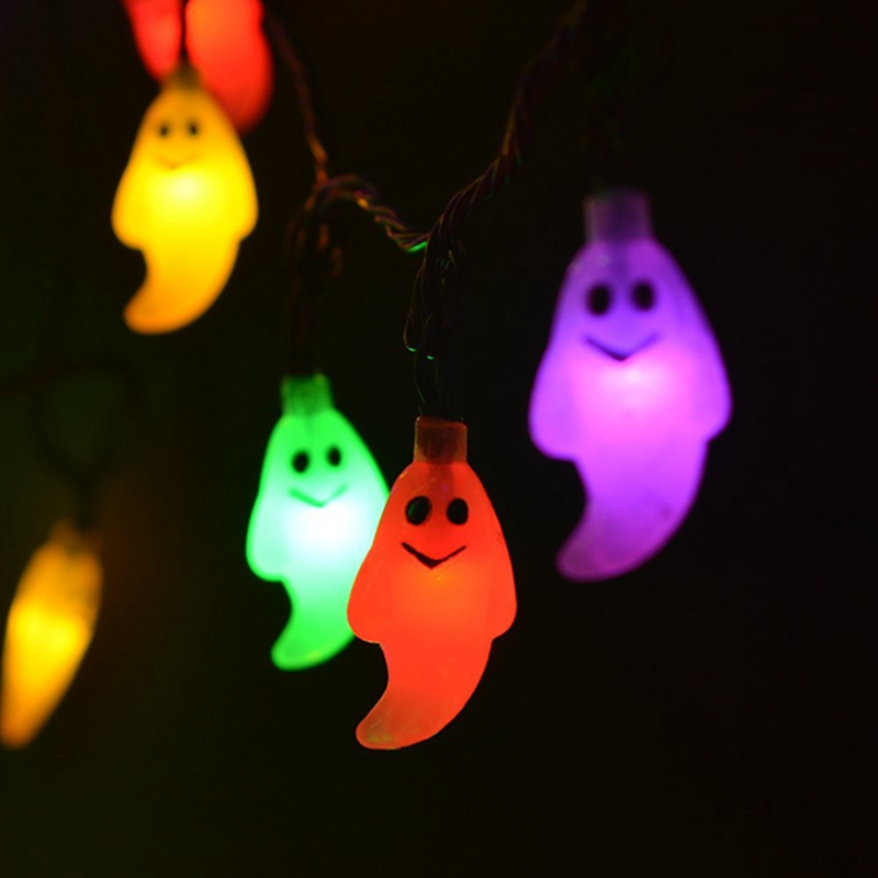 Solar String Lights Outdoor Halloween Decorations 30 LED Decorative Lighting  Warm