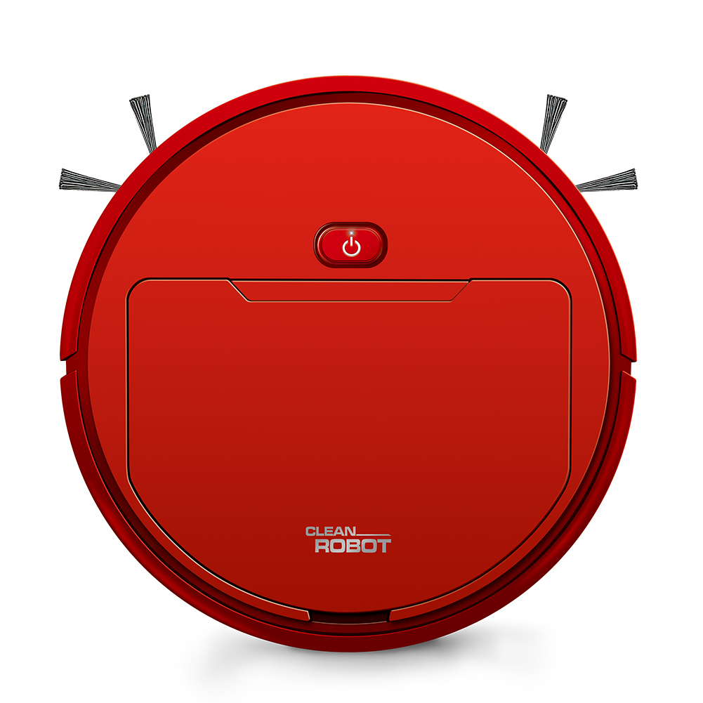 Sweeping Vacuum Cleaner Smart Robot Red