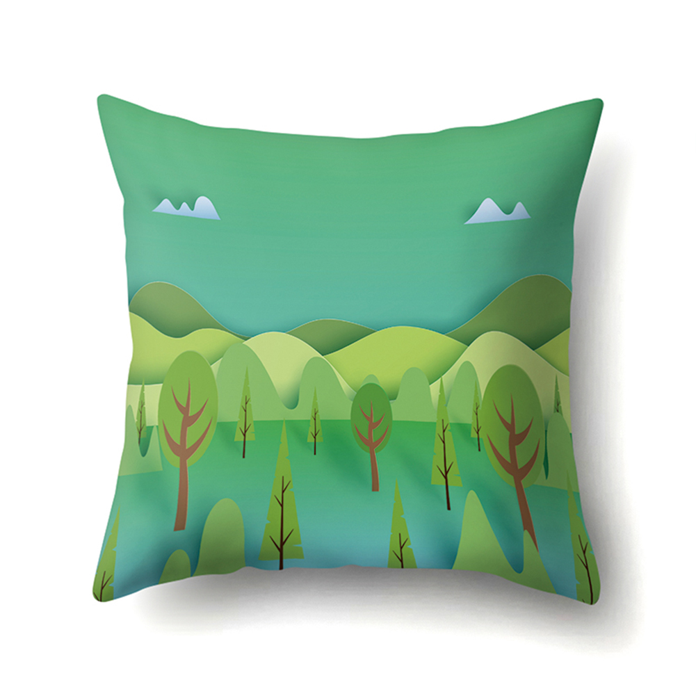 Forest Series Cushion Case with Pattern of Mountain and River Four Seasons 45*45cm CCA414(4)