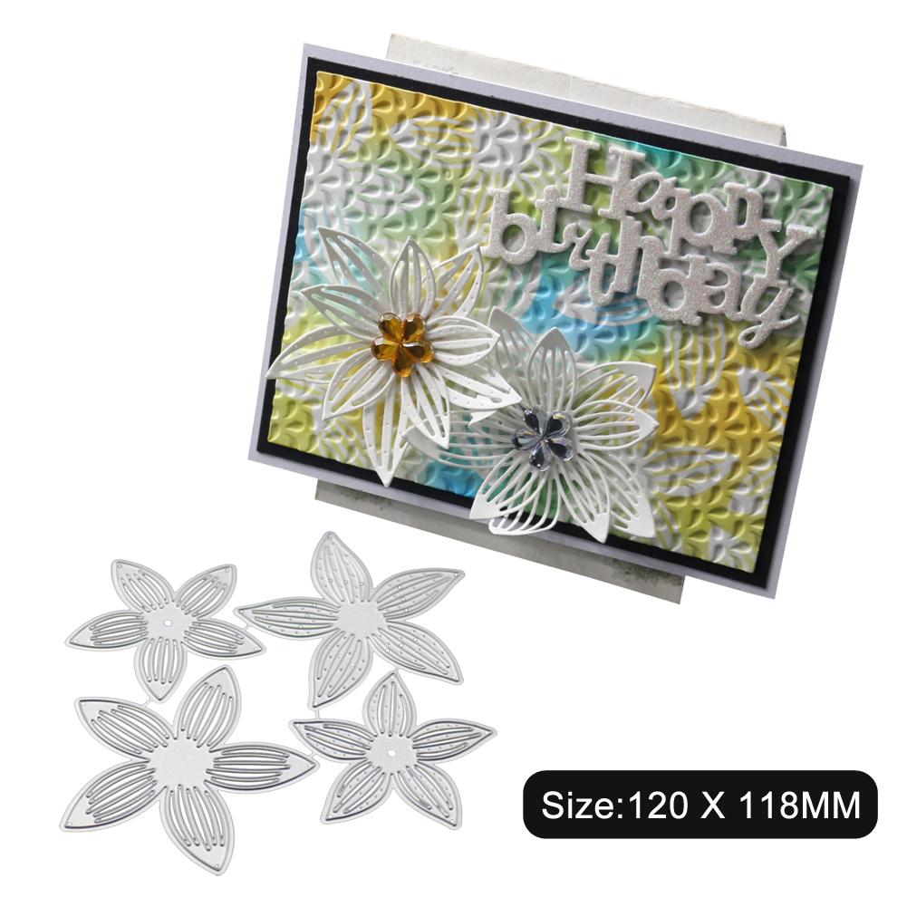 DIY Etched Carbon Steel Cutting Die for Scrapbook Flower/Bookmark Decoration 1805507