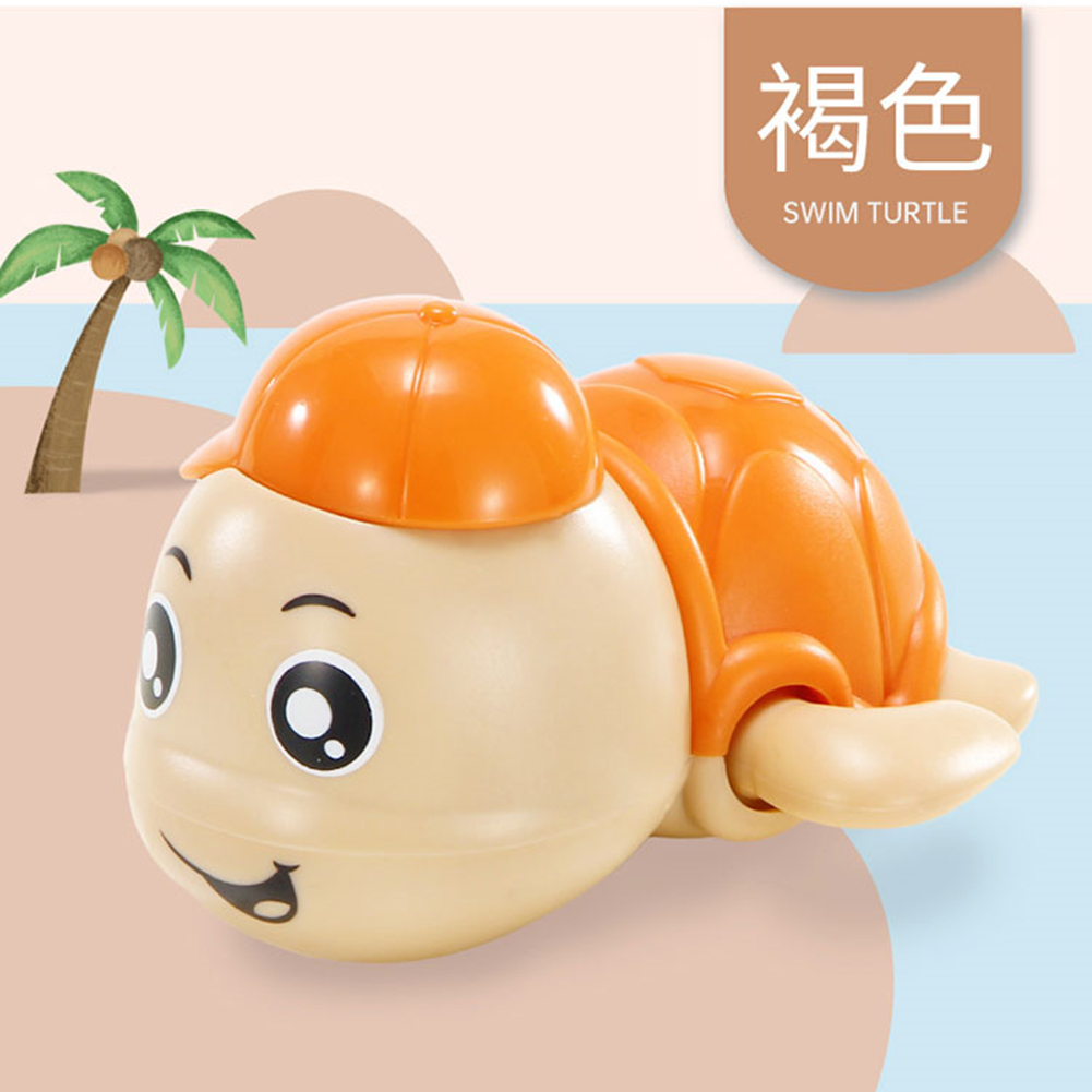 Baby Wind-up Clockwork Playing Toys Cute Cartoon Animal Shape Toy For Kids Turtle Orange