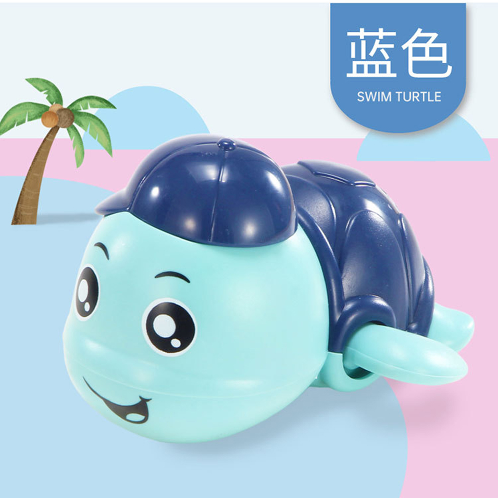Baby Wind-up Clockwork Playing Toys Cute Cartoon Animal Shape Toy For Kids Turtle blue