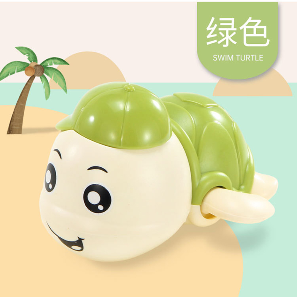 Baby Wind-up Clockwork Playing Toys Cute Cartoon Animal Shape Toy For Kids Turtle green