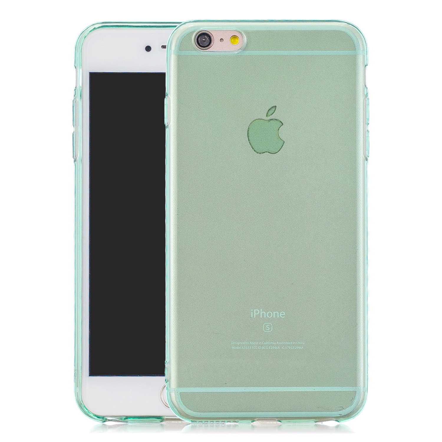 for iPhone 6/6S / 6 Plus/6S Plus / 7/8 / 7 Plus/8 Plus Clear Colorful TPU Back Cover Cellphone Case Shell Green