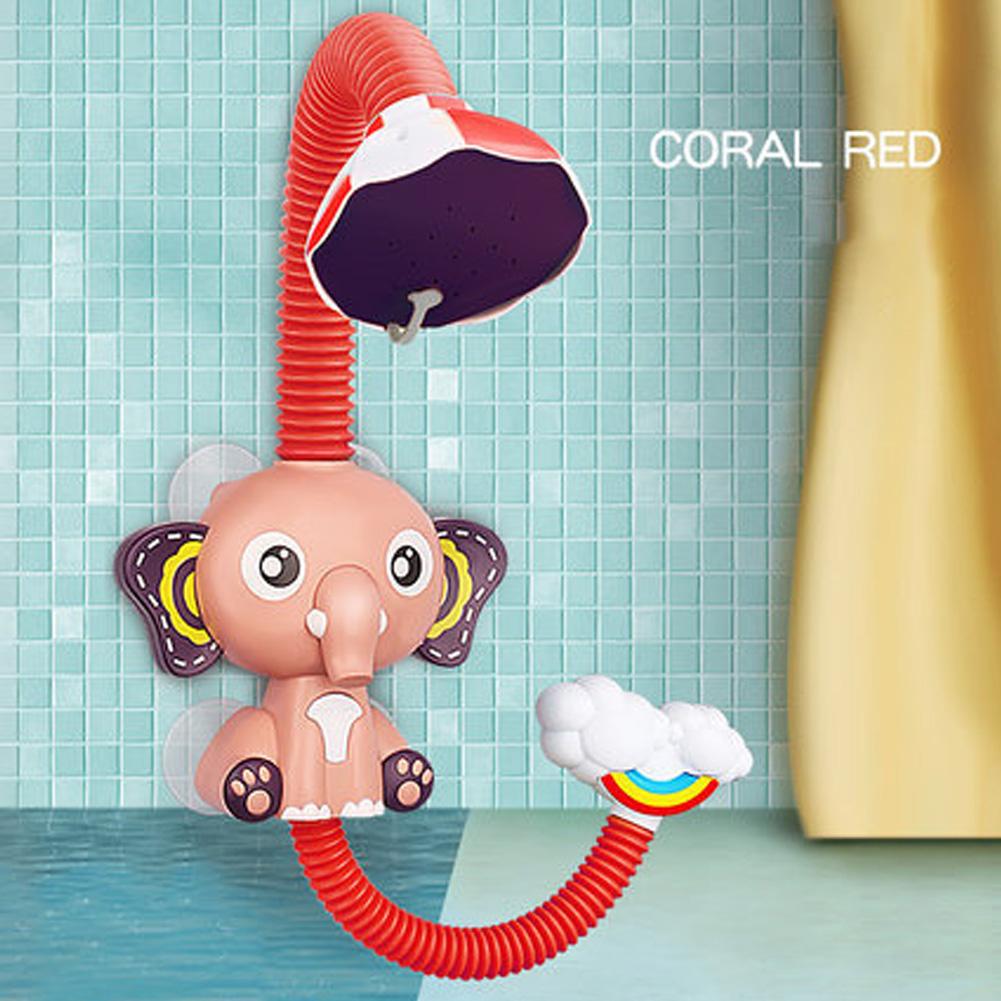 Sprinkler Bath Toy Beach Bathroom Kids Girls Boys Baby Elephant Bathing Water Baby Children Shower Pool Toys Elephant shower (red)