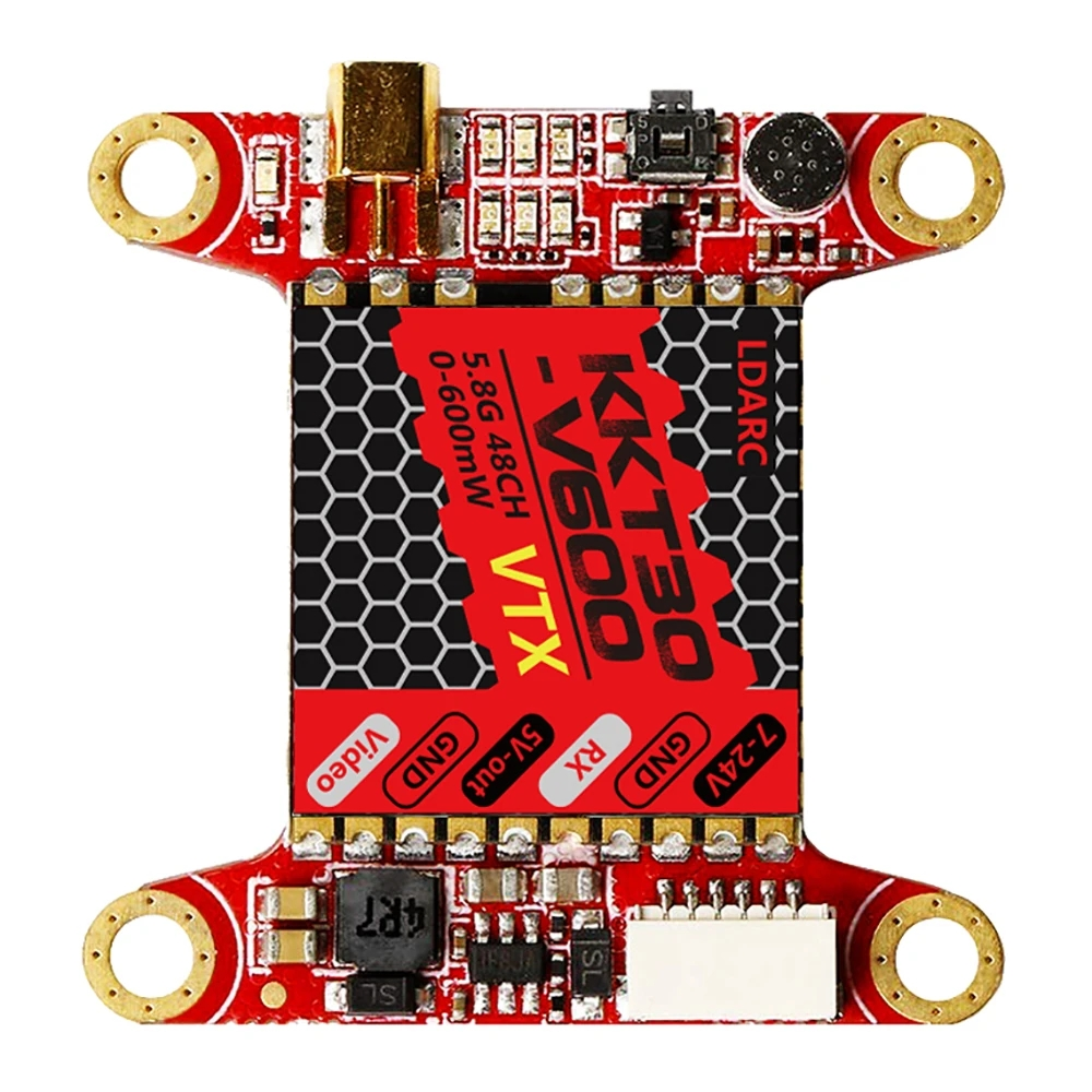 LDARC KKT30-V600 7-24V 48CH 0-600mW IRC-Tramp VTX 30.5*30.5mm For FPV Racing RC Drone red