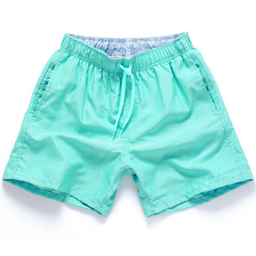 Men Summer Soft Beach Swimming Short Pants navy_L