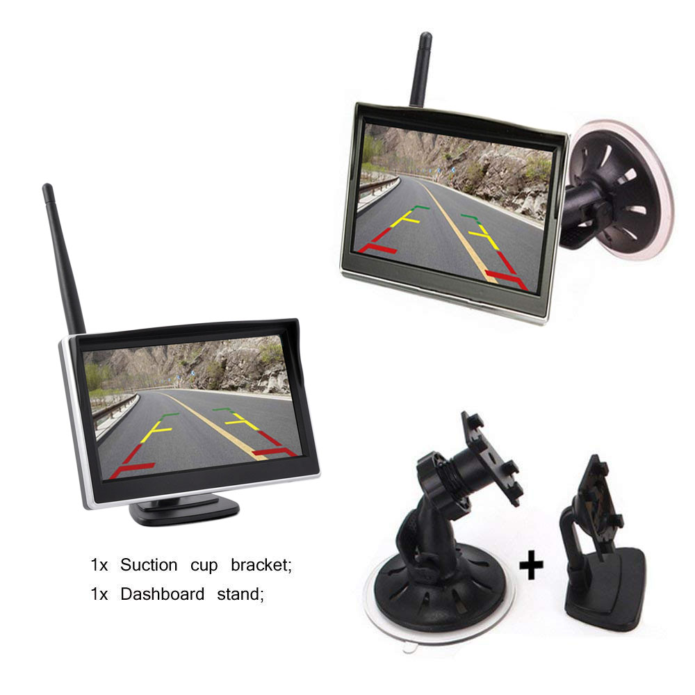 Rear View Parking Camera - 5-Inch LCD Display,IP68 Waterproof, 1/4