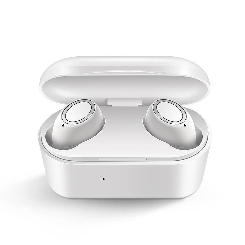D015 TWS5.0 Wireless Headphone Bluetooth In-Ear Handsfree Headset Sport Earbuds white