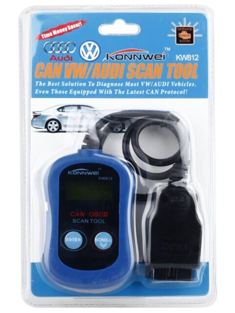 KW812 Car Diagnostic Scanner Automotive Fault Code Reader (Can Only Detect 12V Gasoline Car of Volkswagen & Audi)