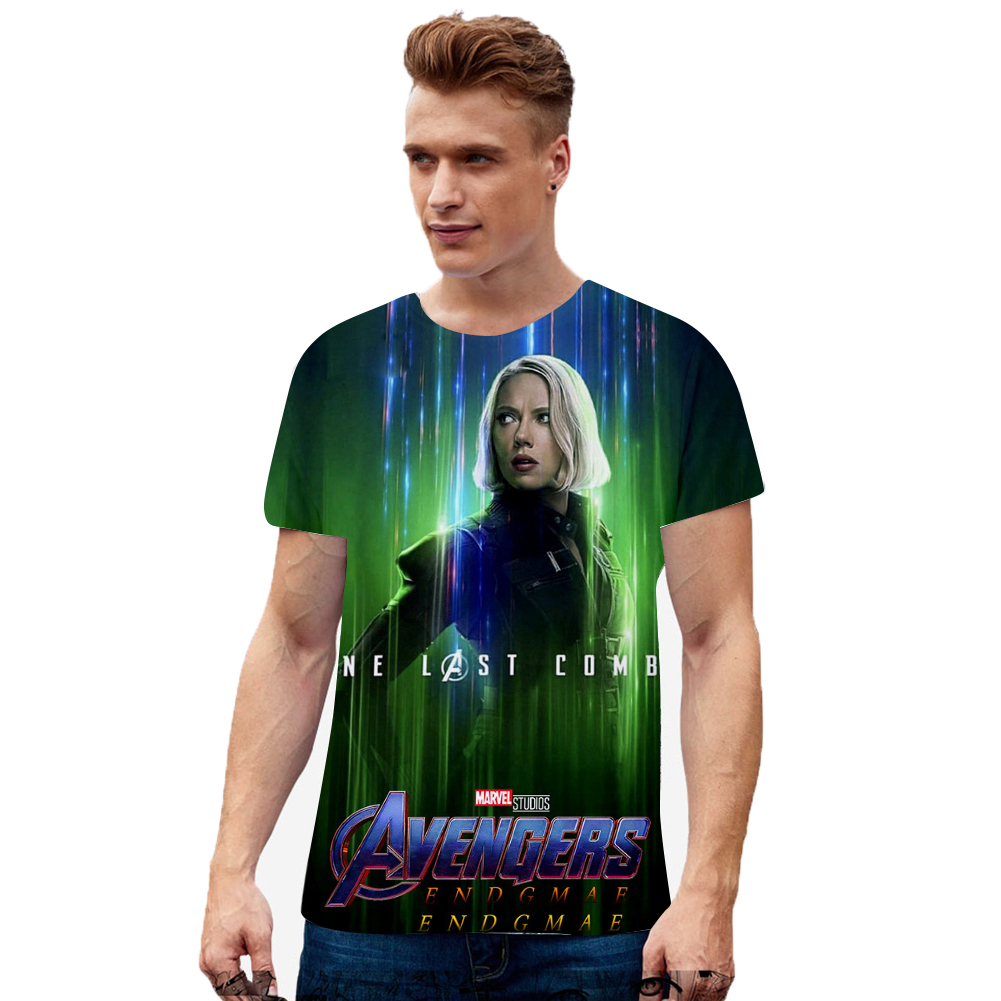 Fashion Cool Superhero 3D Digital Printing Short Sleeve T-shirt B_M