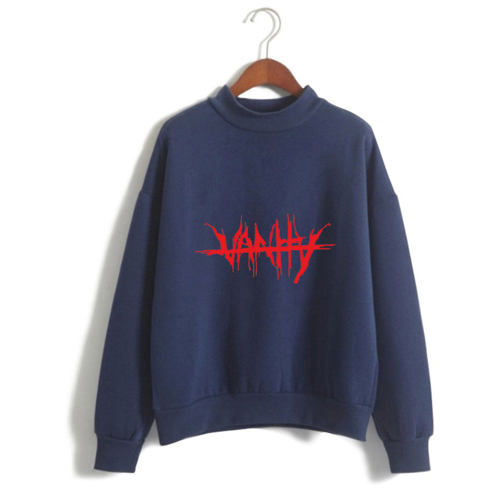 Men Women Couple Fashion Printed Fashion Casual Turtleneck Sweater Tops 4#_3XL