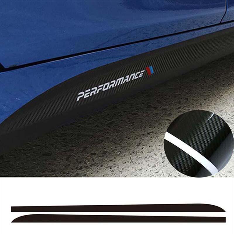 215cm Carbon Fiber Sticker Side Skirt Car Decal for BMW E90 E92 E39 F10 F30 F31
