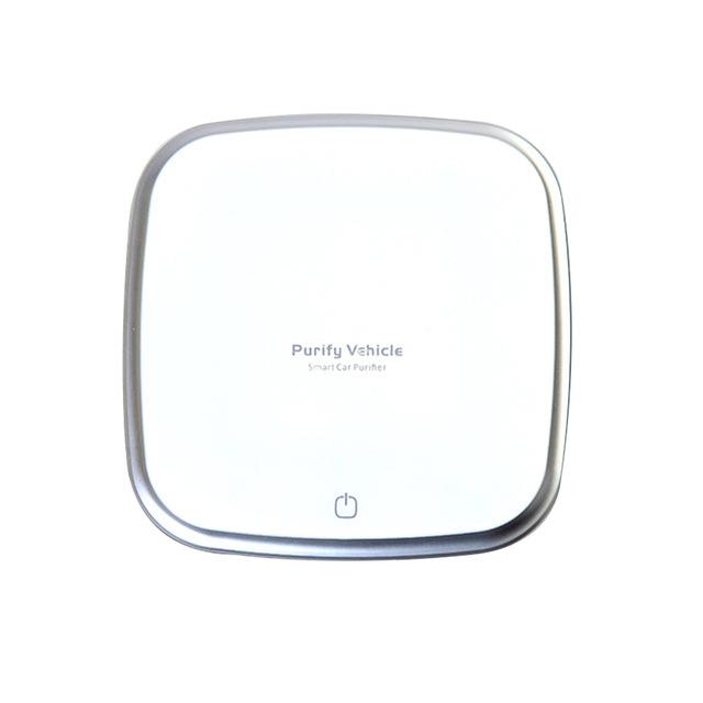 Car Air Purifier 12V Negative Ion Ionizer Air Purifier Humidifier Air Purifier Diffuser  white
