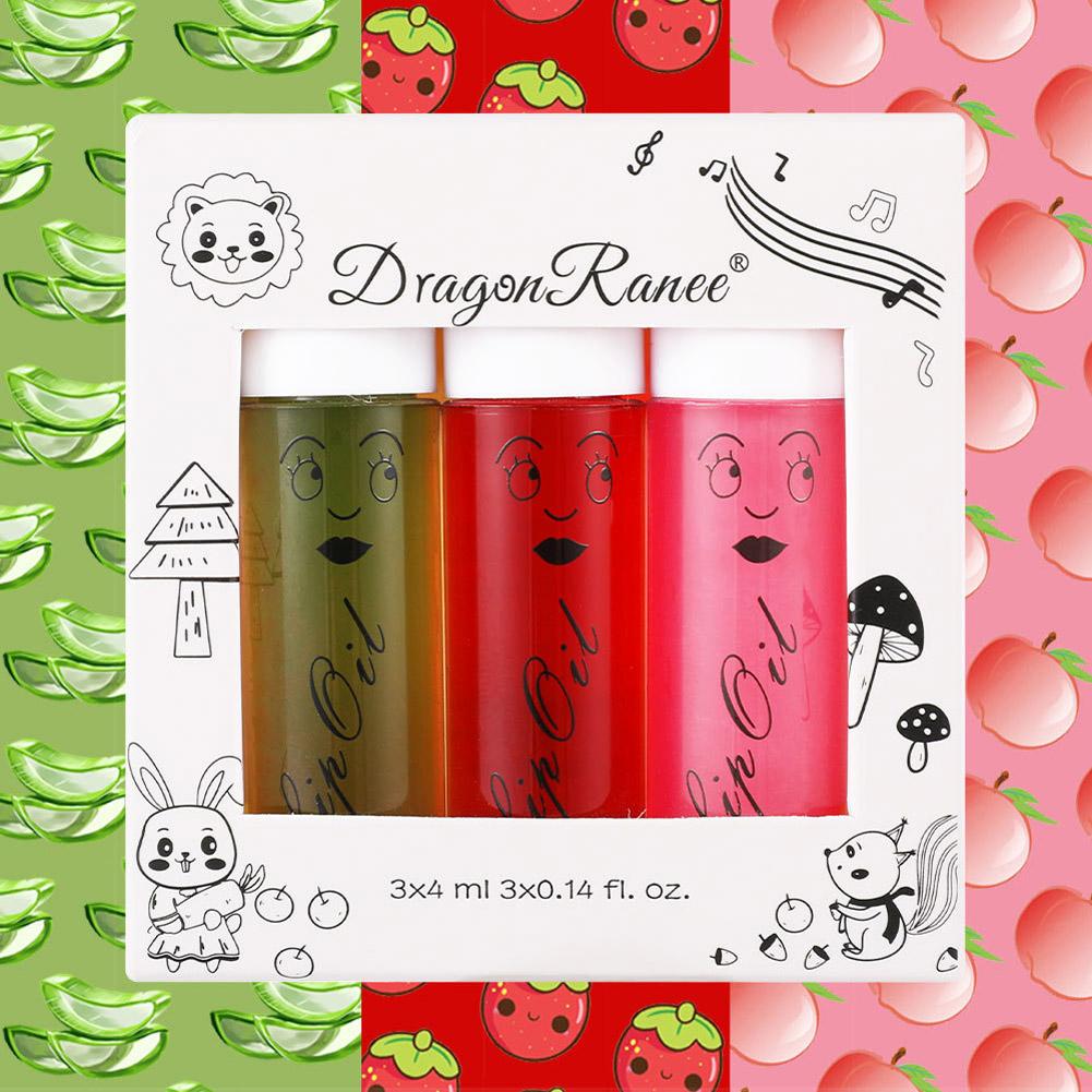 3 Pcs/set Lip Glaze Moisturizing Non-marking Shining Waterproof and Temperature-changing Lip Gloss 2