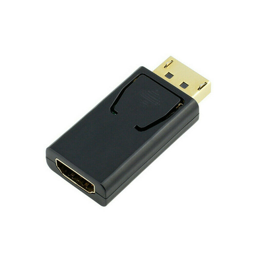 Portable Display Port DP Male to HDMI Female Adaptor Adapter Converter for HDTV black